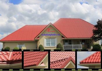 Lợp mái nhà với tôn nhựa sóng ngói đang được ưa chuộng