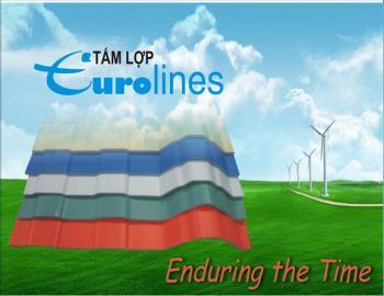 Tấm lợp Eurolines và ứng dụng