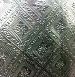 Aluminium foil with square pattern